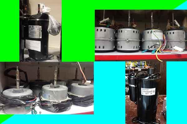 کمپرسور-و-موتور-فن-کولر-گازی