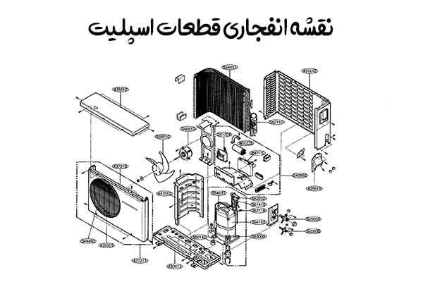 نقشه-انفجاری-قطعات-اسپلیت